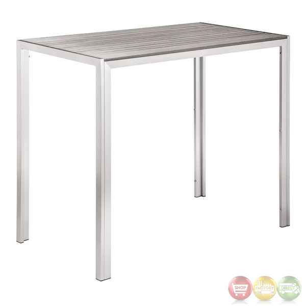 Zuo Modern Patio Furniture.Gotham Gray Bar Table Zuo Modern 703228 Modern Outdoor Furniture