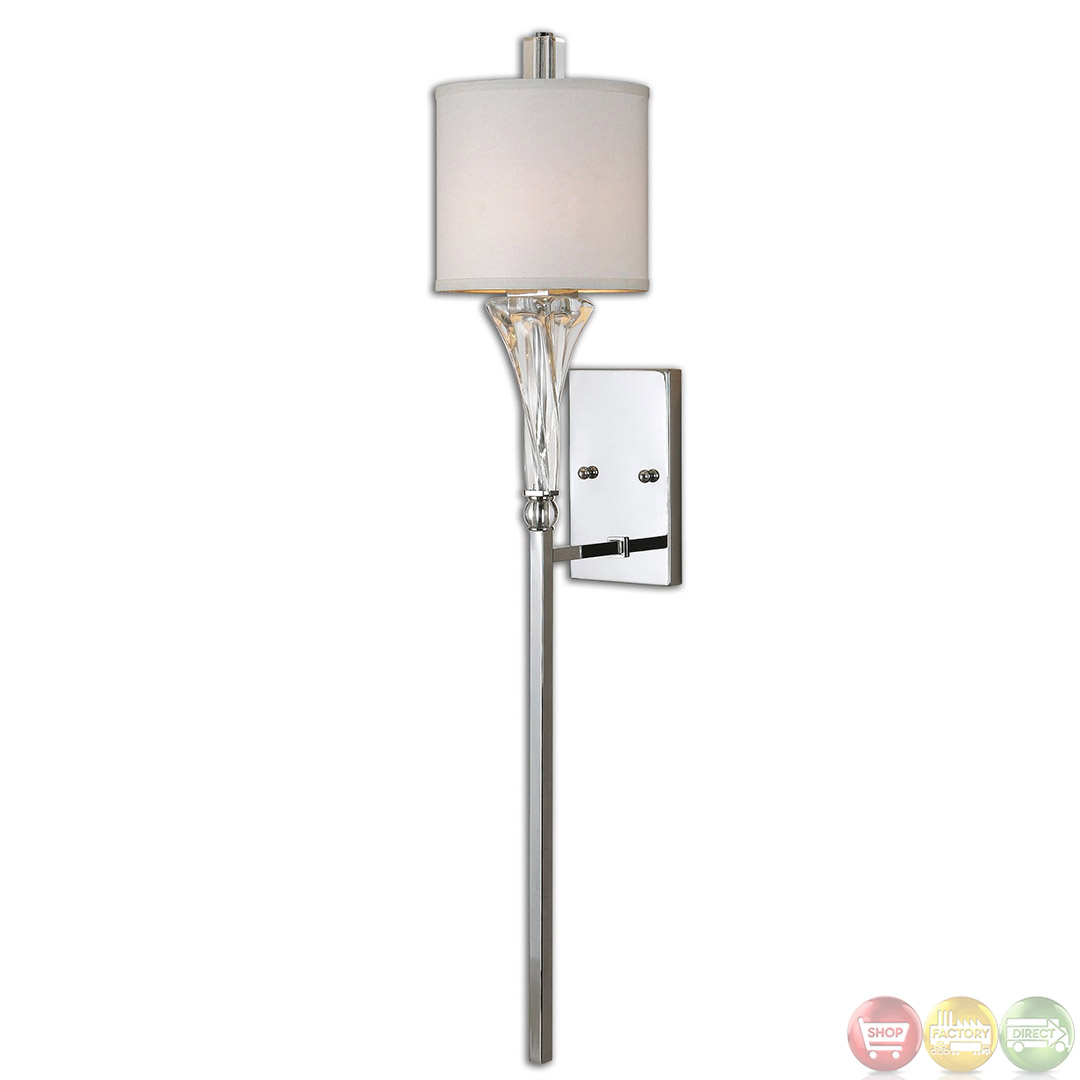 Modern Chrome Wall Sconces : Grancona Contemporary 1 Light Chrome Wall Sconce 22495