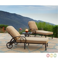 Grand Bonaire 3 Piece Weather Resistant Wicker Lounge Chair Set