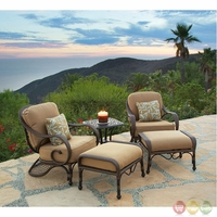 Grand Bonaire 5 Piece Weather Resistant Wicker Patio Chair Set