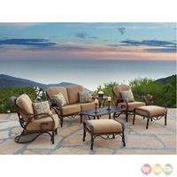 Grand Bonaire 7 Piece Weather Resistant Wicker Patio Furniture Set