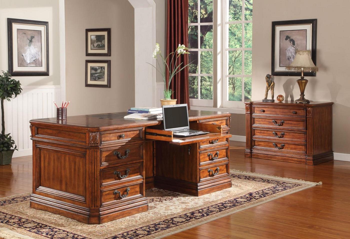 Grand Manor Granada Classic Double Pedestal Executive Desk V