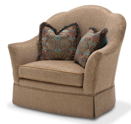 Fantastic Grand Masterpiece Brown Fabric Swivel Chair In A 1 2 W Bralicious Painted Fabric Chair Ideas Braliciousco
