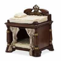 Grand Masterpiece Classic Ornate Wooden Dog Bed w/Gold Accents Clearance*