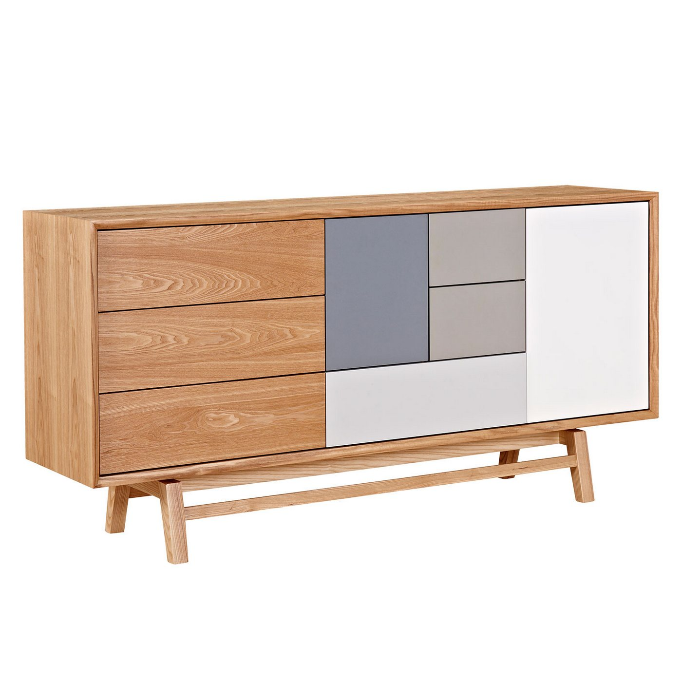 Cheap Modern Furniture Dallas: Grane Mid-Century Modern Sideboard W/ Multi-colored Panels