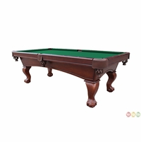 Green 8 Foot Ball and Claw Style Slate Pool Table