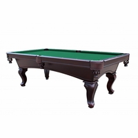 Green 8 Foot Queen Anne Style 3 Piece Slate Pool Table