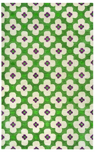 Rizzy Rugs Green Transitional Hand Tufted Area Rug Opus OP8097
