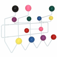 Gumball Modern Coated Wooden Ball Coat Rack, Multicolored