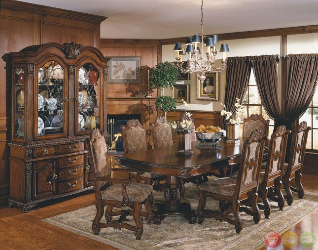 European Formal Dining Room Sets Homey Design HD 8012 Riverview