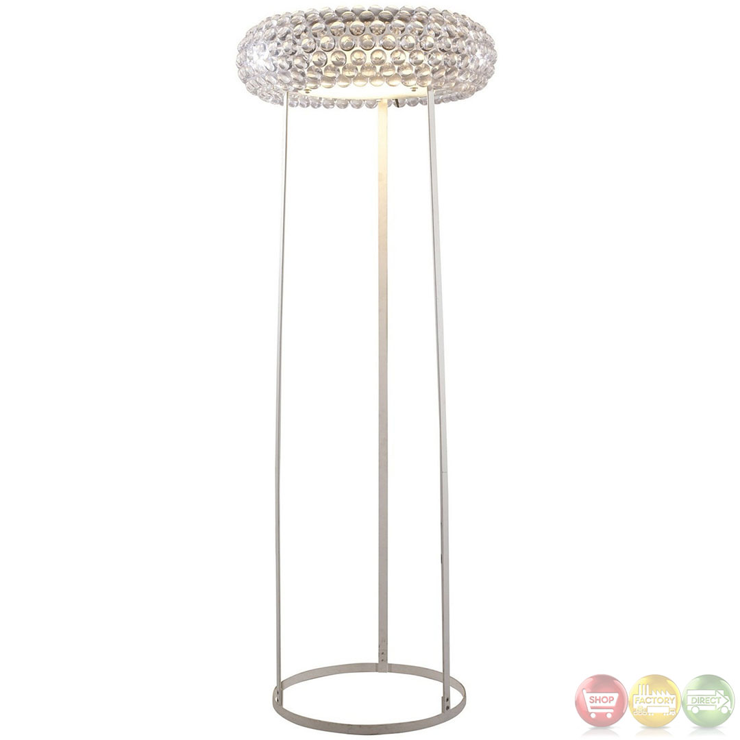 Halo contemporary modern acrylic crystal floor lamp eei 671 for Modern contemporary floor lamp