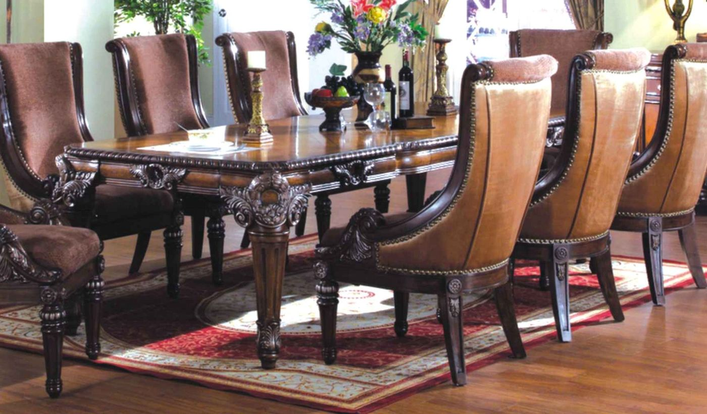 Halyn Antique Brown Formal Dining Room Table With