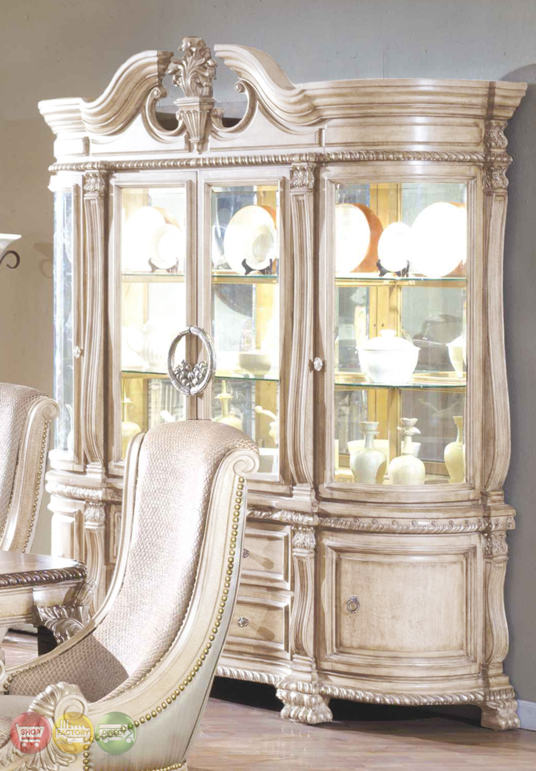Antique White Dining Room Set | Formal Dining Room ...