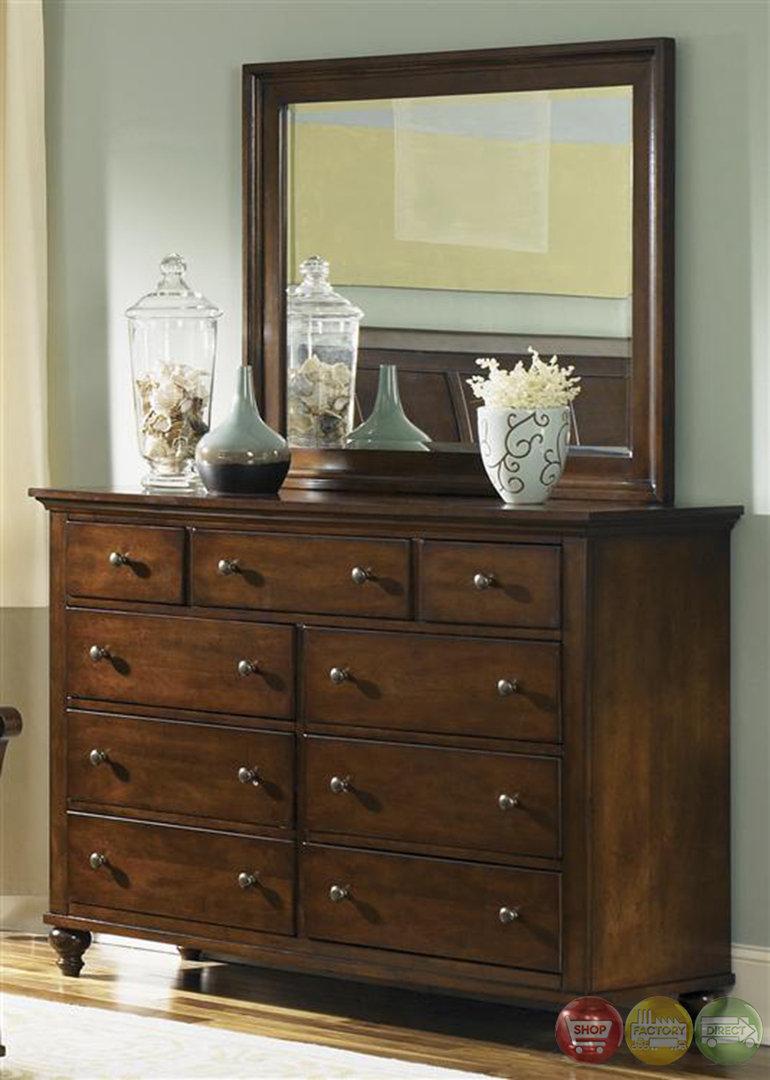 Hamilton Traditional Cinnamon Finish Storage Bedroom Set