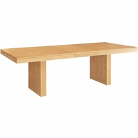 "Hampshire White-Wax Dining Table With 18"" Extension Leaf"