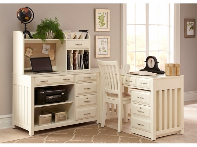 - Hampton Bay Antique White L Shaped Home Office Desk