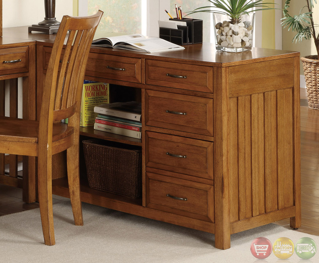 Hampton bay warm oak finish l shaped home office desk - L shaped home office desk ...