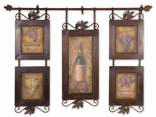 Hanging Wine Brushstroke Framed Kitchen Art 50791