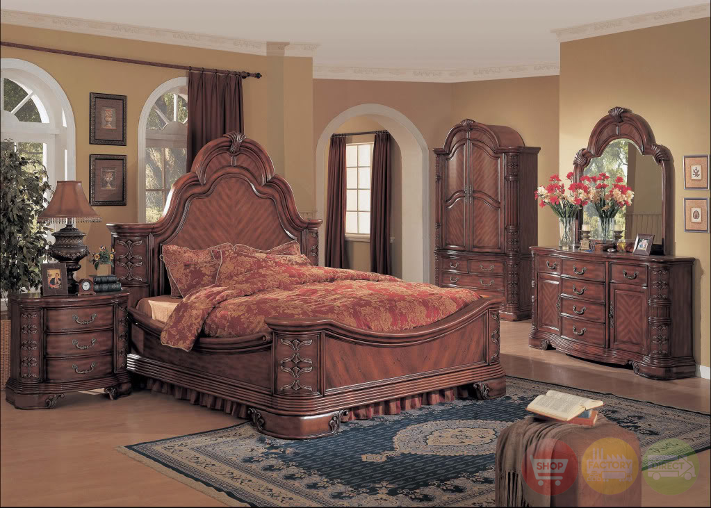 Marble And Wood Bedroom Furniture ~ Hannah traditional bedroom furniture mansion bed solid