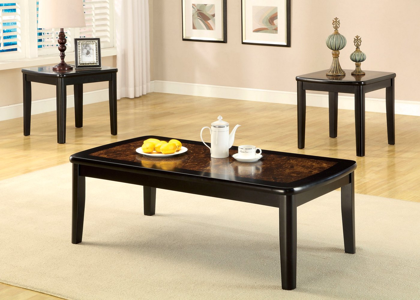 Hartly Contemporary Black Accent Tables CM4316
