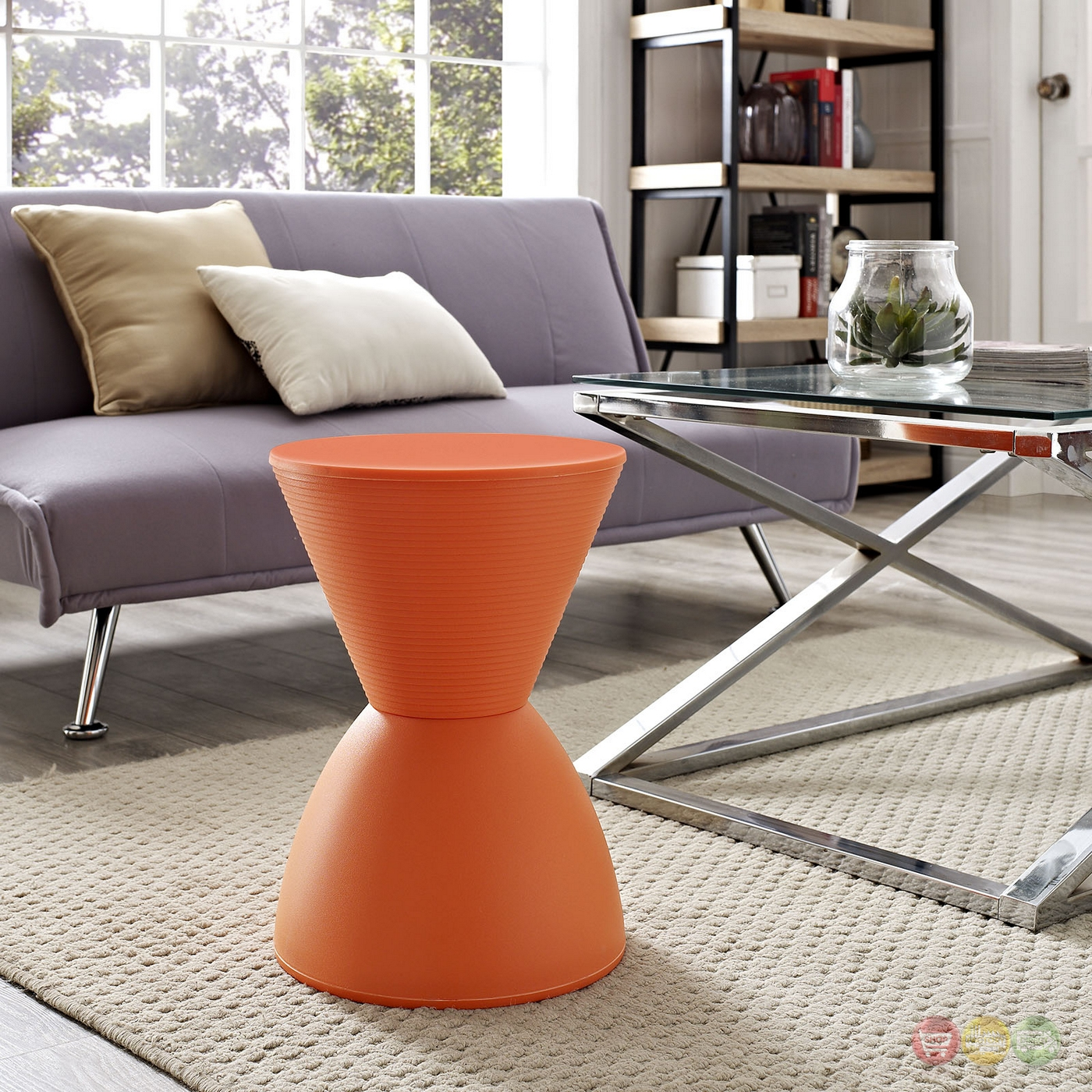 Haste Modern Multi Purpose Storage Stool Orange