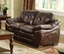 Hastings Traditional Rustic Brown Living Room Set with Plush Seating CM6630