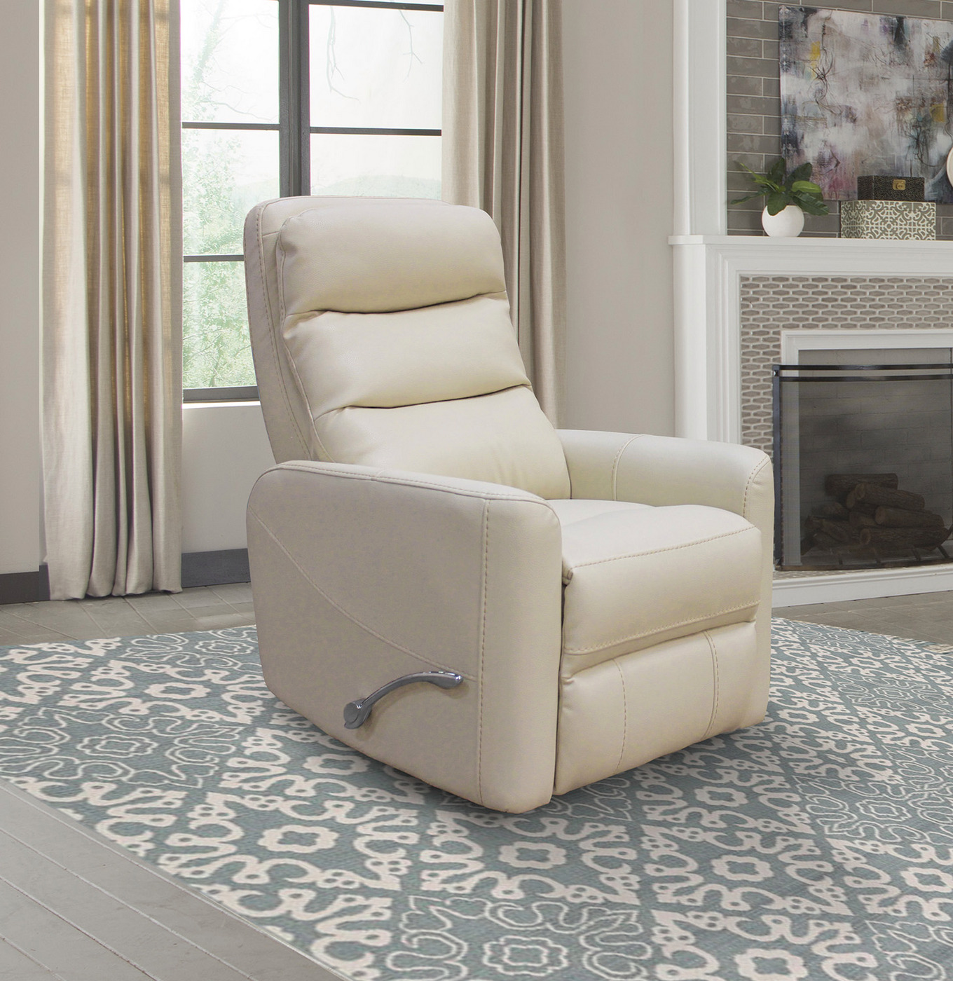 Hercules Oyster Swivel Glider Recliner With Articulating