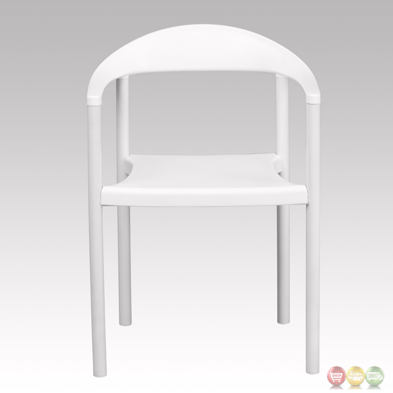 Hercules series 1000 lb capacity white plastic cafe stacking chair rut 418 wh gg - White resin stacking chairs ...