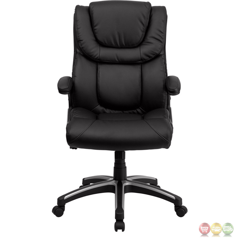 high back black leather executive office chair bt 9896h gg. Black Bedroom Furniture Sets. Home Design Ideas