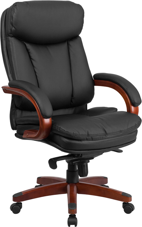 High Back Black Leather Executive Swivel Office Chair W