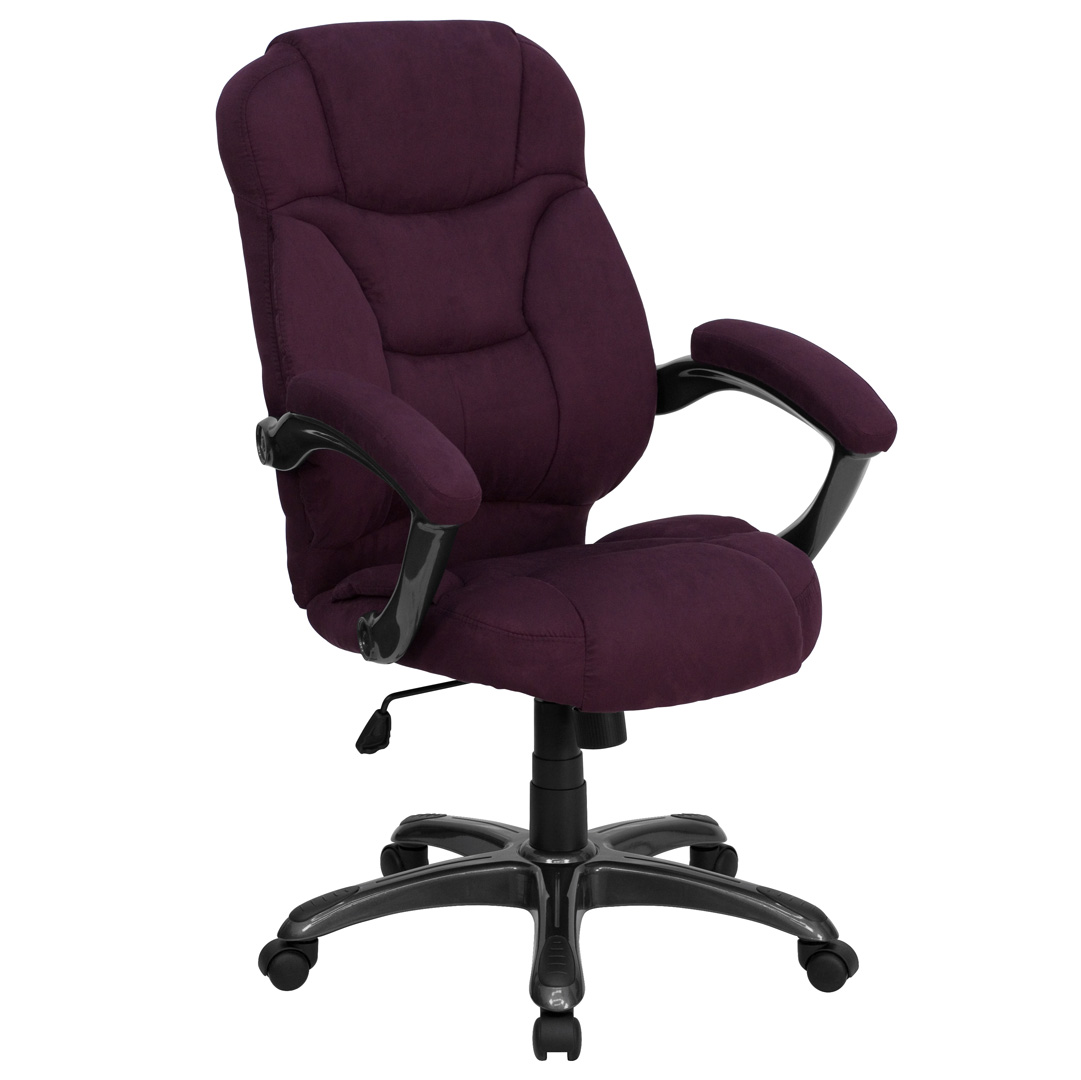 high back grape microfiber upholstered contemporary office chair go 725 grpe gg. Black Bedroom Furniture Sets. Home Design Ideas