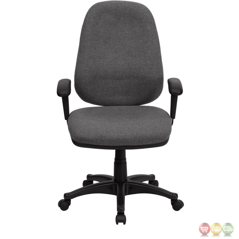 high back gray fabric ergonomic computer chair with height adjustable arms bt 661 gr gg. Black Bedroom Furniture Sets. Home Design Ideas