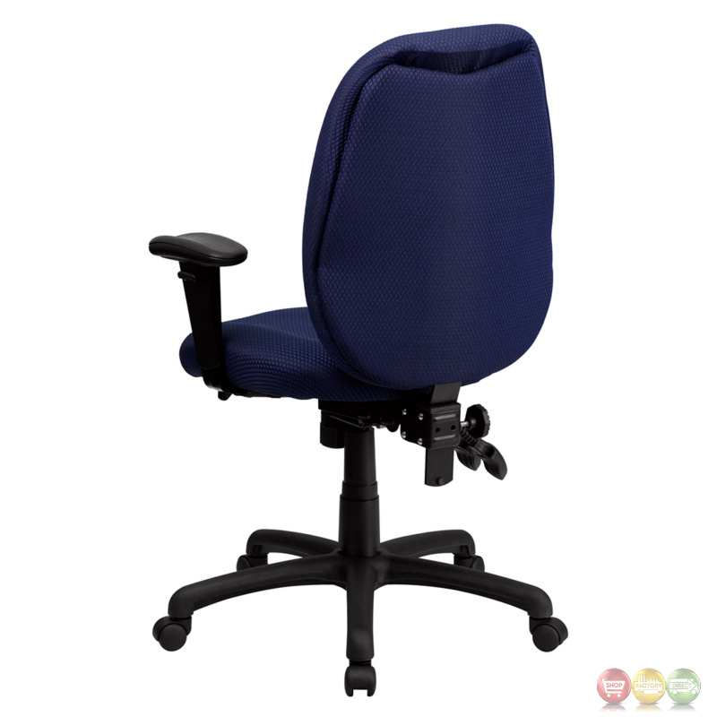 High back navy fabric executive swivel office chair w height adjustable arms - Ergo kids task chair ...