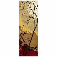 """Soft New Zealand Wool Runner Area Rug 2'6""""x 8' Red Black Tan Brown White Nature"""
