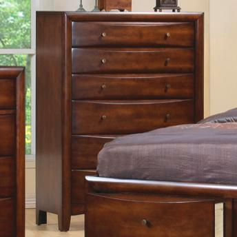 Hillary Contemporary Six Drawer Chest Brown Finish
