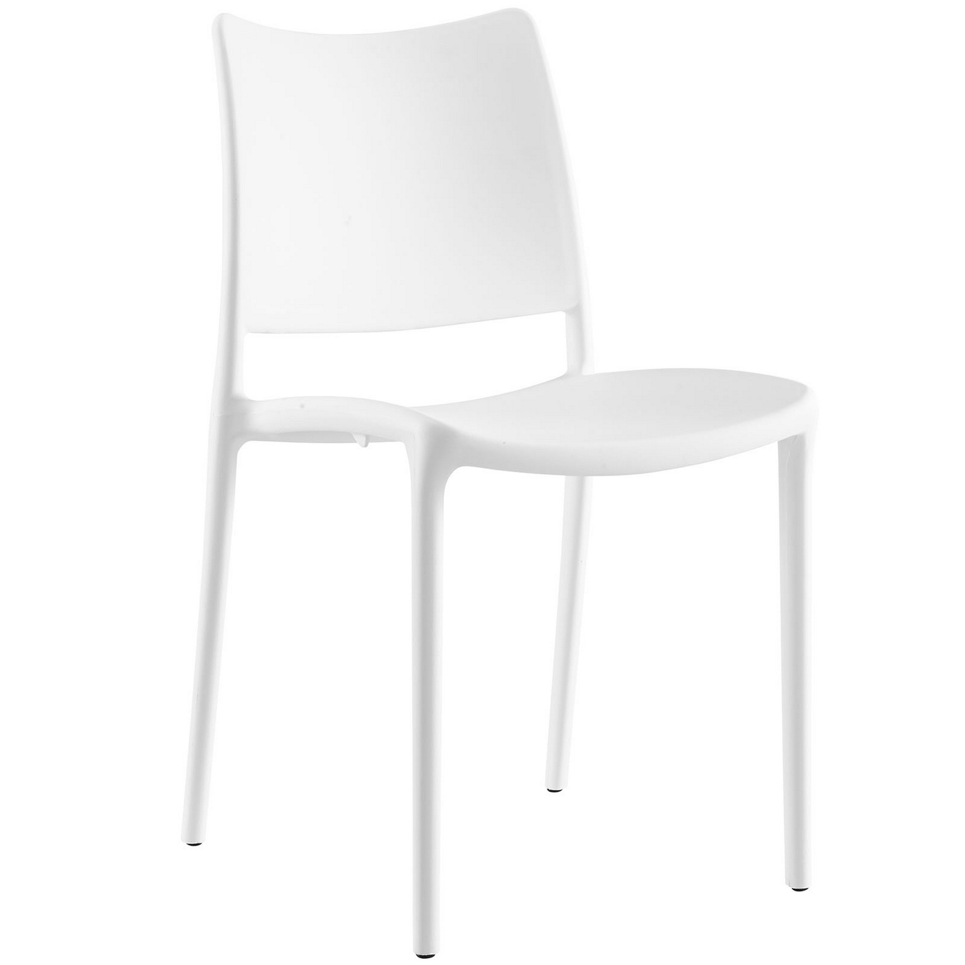 hipster contemporary stackable plastic dining side chair white. Black Bedroom Furniture Sets. Home Design Ideas
