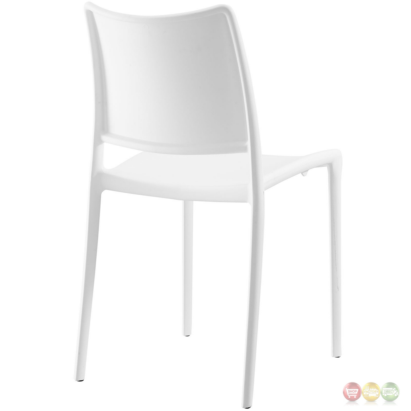 Hipster contemporary stackable plastic dining side chair for White plastic dining chair