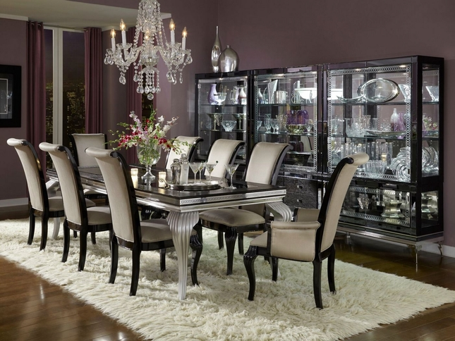 Hollywood Swank Modern Dining Room Set 102 Quot Glass Top