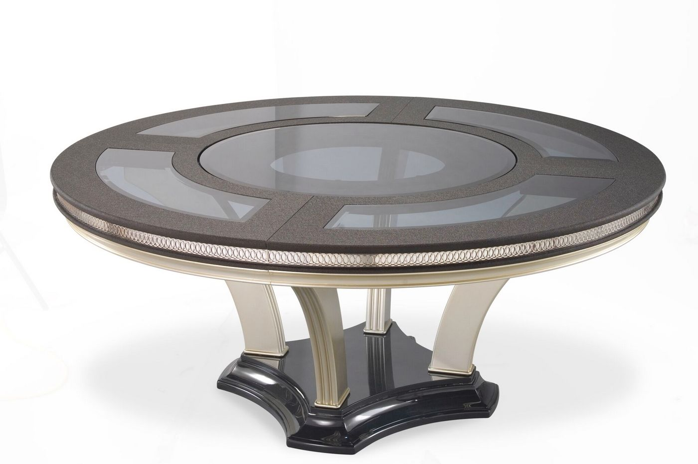 Hollywood Swank Modern 72 Quot Round Glass Top Dining Table In
