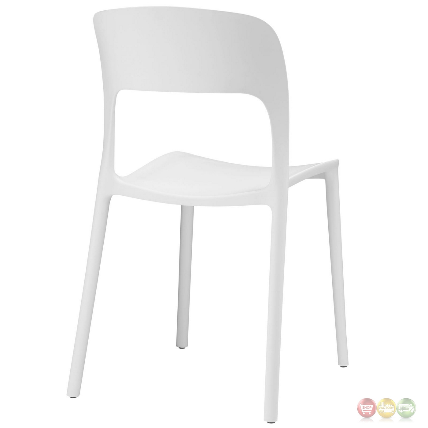 hop modern stackable plastic dining side chair white. Black Bedroom Furniture Sets. Home Design Ideas