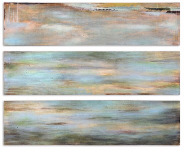 Horizon View Set of 3 Hand Painted Art Panel 51012