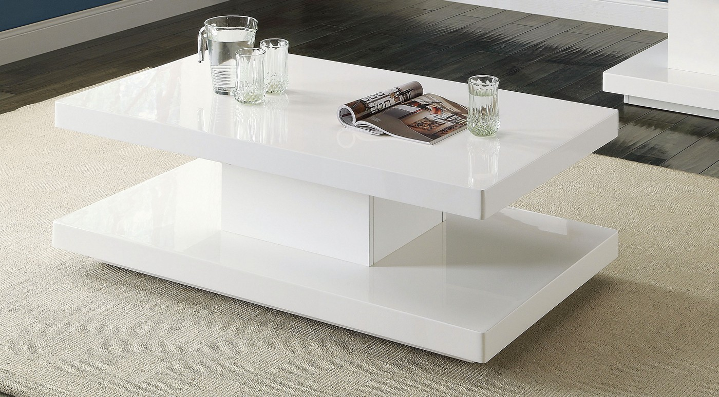 Ifama Contemporary Coffee Table In White High Gloss