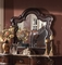 Imperial Traditional Beveled Dresser Mirror With Dark Brown Finish