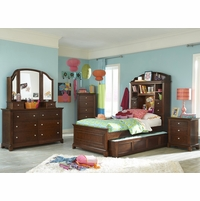 Impressions Classic Clear Cherry Bookcase Full Youth Bed