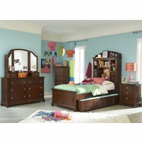 Impressions Classic Clear Cherry Bookcase Twin Youth Bed