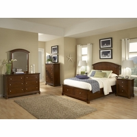 Impressions Kids Wood Panel Full Bed w/ Storage Footboard in Cherry Finish