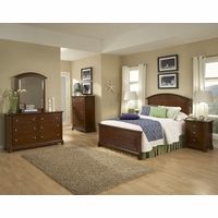 Impressions Traditional Kids Wood Panel Full Bed in Classic Cherry Finish