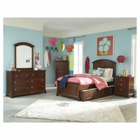 Impressions Traditional Kids Wood Panel Twin Bed in Classic Cherry Finish