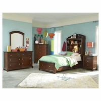 Impressions Clear Cherry Youth Lifestyle Twin Bookcase Bed