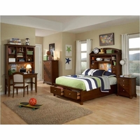 Impressions Lifestyle Classic Clear Cherry Full Bookcase Youth Bed